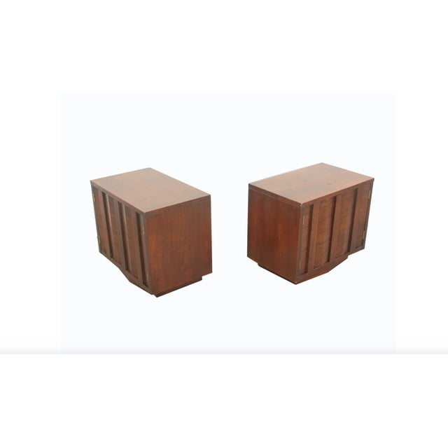 "Lane Furniture Lane Brutalist ""Prism"" Nightstands - Set of 2 For Sale - Image 4 of 4"