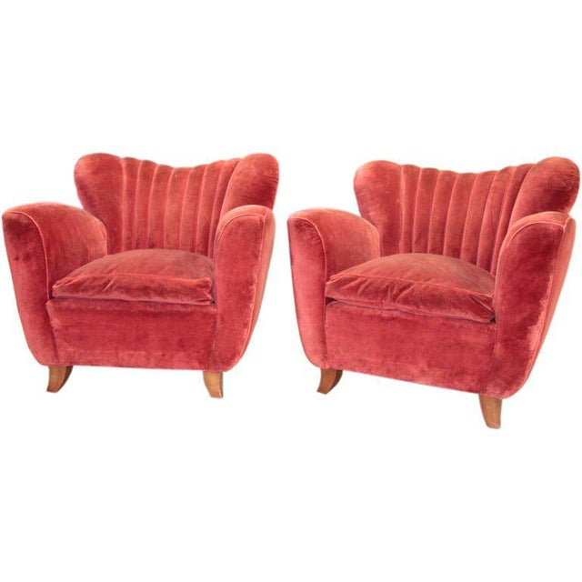 Italian Armchairs attributed to Guglielmo Ulrich For Sale - Image 9 of 9