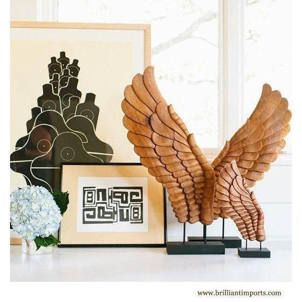 Wooden Décor Wings I, Pair - Image 4 of 4