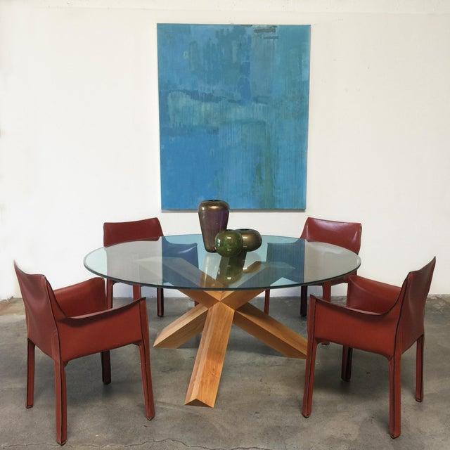 Cassina & Mario Bellini La Rotonda Glass Dining Table - Image 5 of 5