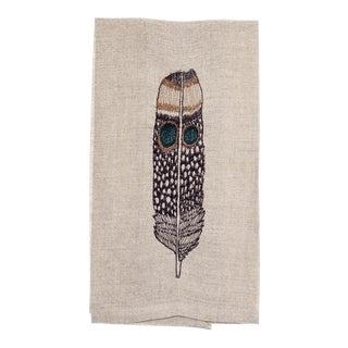 Owl Feather Tea Towel For Sale