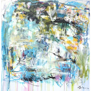 """""""Push Past the Fear"""" Original Abstract Artwork by Lesley Grainger For Sale"""