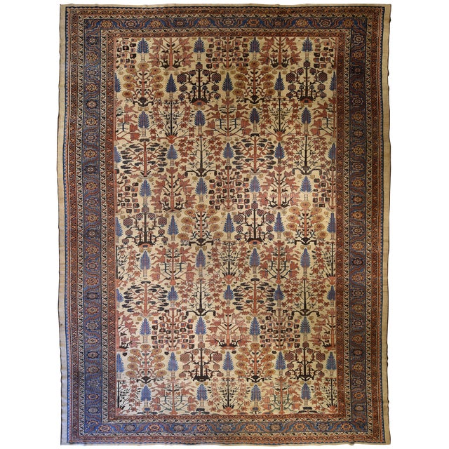 Antique Persian Bakshaish Rug - Image 1 of 3