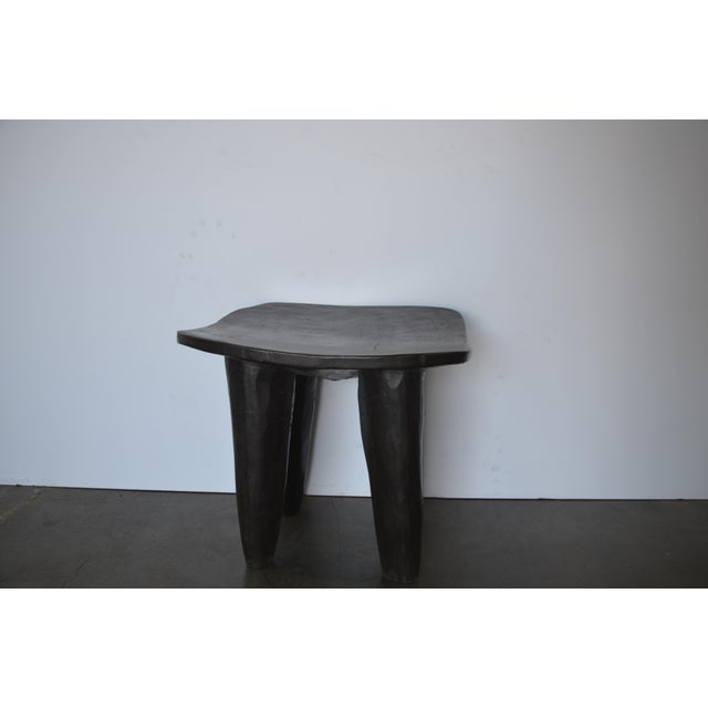 African Senufo Modern Wood Stool From Africa For Sale - Image 3 of 8