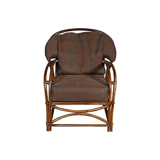 1950's Rattan Lounge Chair - Image 4 of 5