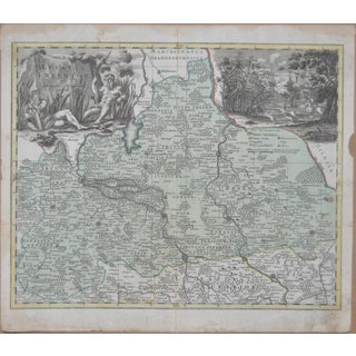 18th Century Hand Colored Map C.1700 Preview