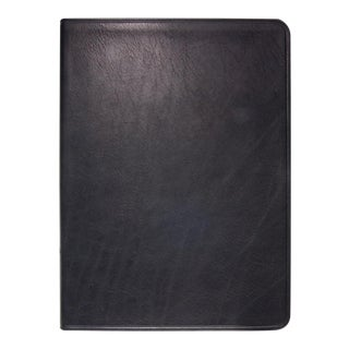 Large Flexible Cover Journal, Calfskin Book in Black For Sale