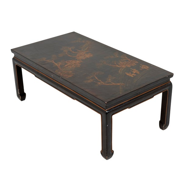Wood Early 20th Century Chinese Lacquer Coffee Table For Sale - Image 7 of 8