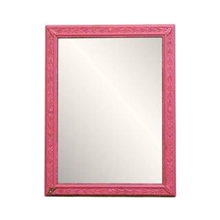 Pink Wood Frame Mirror