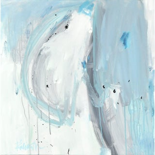 """Acrylic Painting by Robbie Kemper, """"Blue Gray Fades"""" For Sale"""