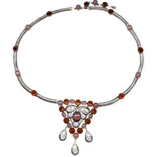 Schreiner New York Huge Glass Necklace For Sale