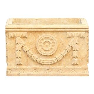 Sandstone Carved Indo-French Planter For Sale