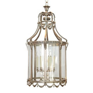 Monumental Nickel Plated Bronze Art Deco Lantern