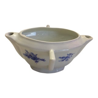 Veritable Porcelaine Gravy Separator With 2 Spouts and Handles, France For Sale