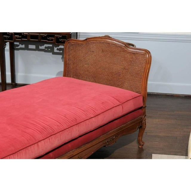 French Provincial Louis XV Cane & Walnut Daybed For Sale - Image 3 of 6