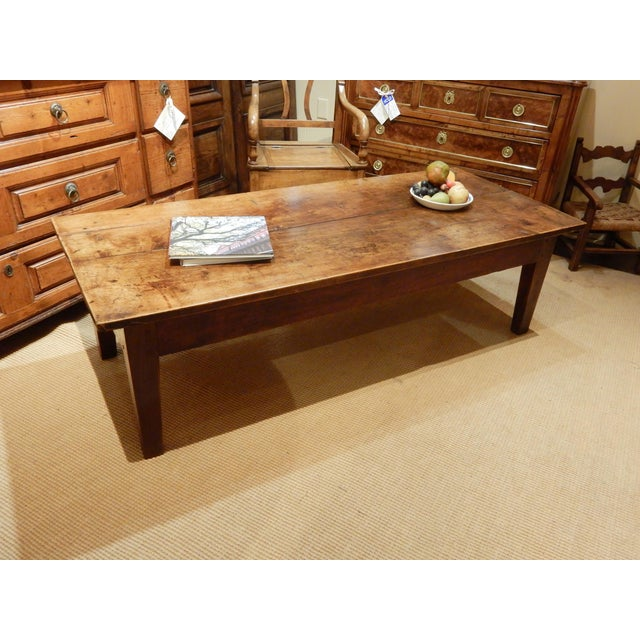 Early 19th Century 19th C. French Walnut Farm/Coffee Table For Sale - Image 5 of 6