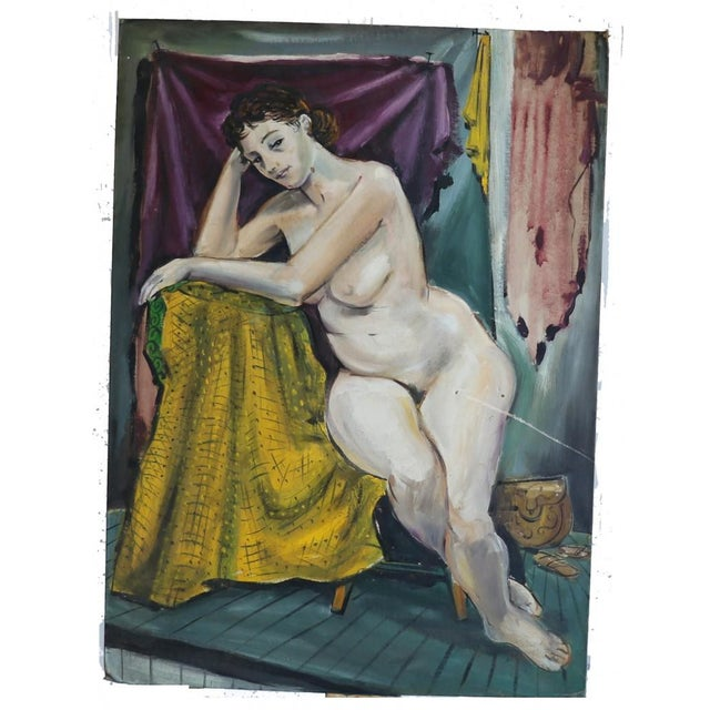 """From the estate of American artist Alvin M. Cohen (1925-2003, American), """"the Model"""" was painted in Paris in 1955. It is..."""