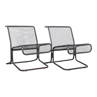 1970s Pair of Czech Metal Chairs - Set of Two For Sale