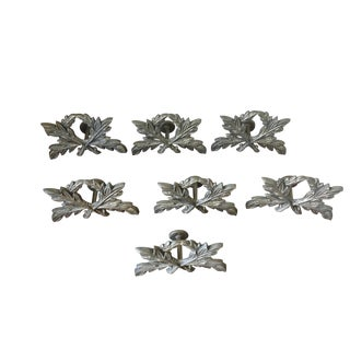 Italian Forged Cast Iron Drapery Tiebacks - Set of 7