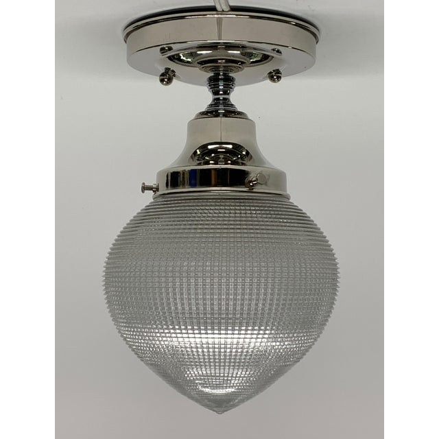Holophane 1920s Holophane Bullet Shade for Kitchen, Bath or Hall For Sale - Image 4 of 5