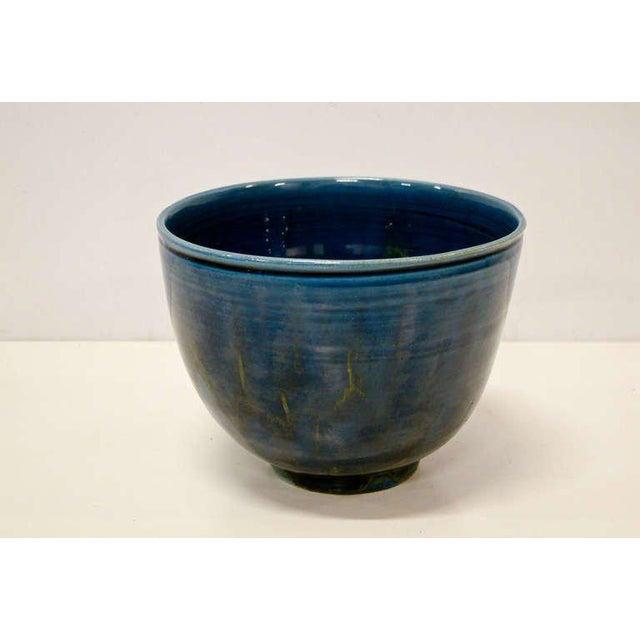 1950s 1950s Polia Pillin Blue Hi-Glaze Bowl For Sale - Image 5 of 6