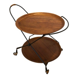 1960s Swedish Teak Tea Trolley For Sale