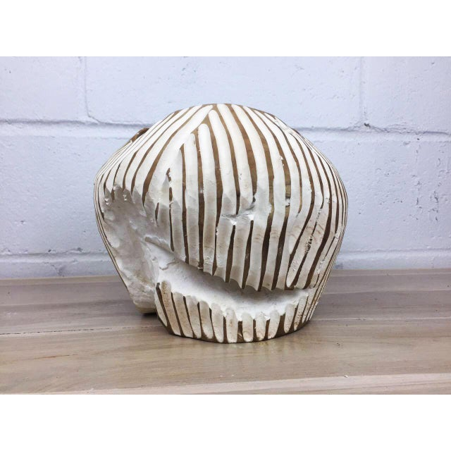 Handmade Teak Wood Bowl For Sale In New York - Image 6 of 11