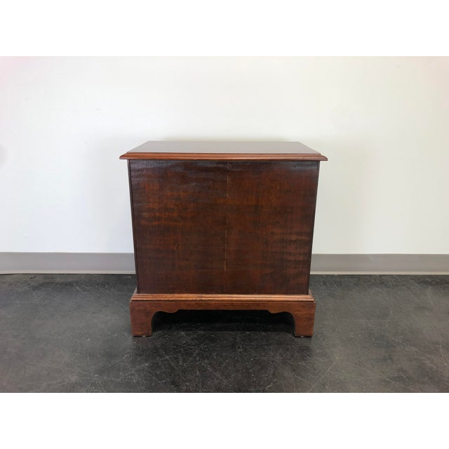 Hooker Chippendale Style Cherry Chairside Chest / Nightstand by Hooker For Sale - Image 4 of 11