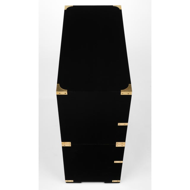 English Campaign Style Secretary Chest - Image 7 of 11