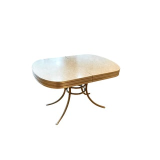 Mid-Century Oval Formica & Chrome Dining Table