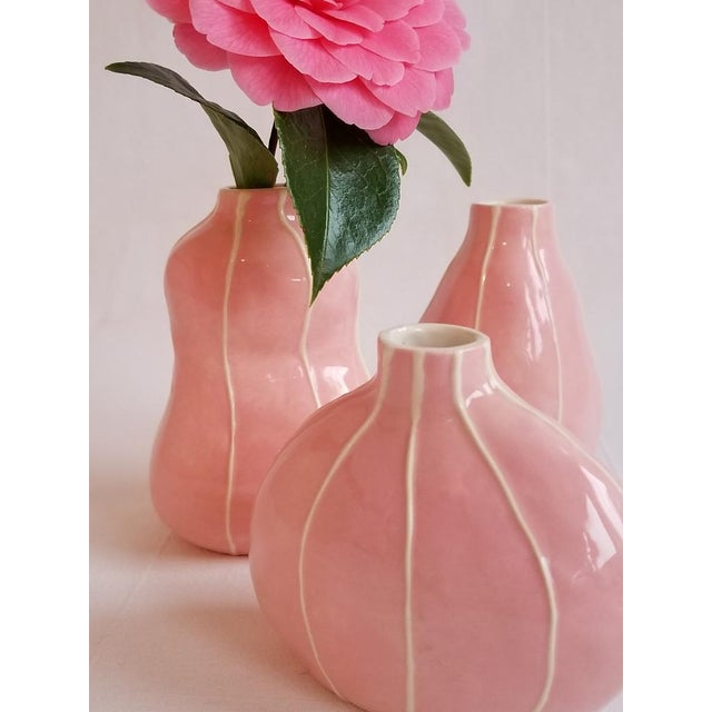 Pink Bud Vases - Set of 3 - Image 3 of 5