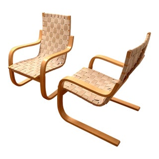 Artek Alvar Aalto Lounge Chairs - a Pair For Sale