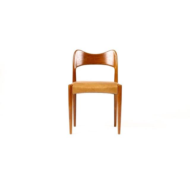 Mogens Kold Møbelfabrik Vintage Mid Century Danish a.h. Olsen for Mogens Kold Teak Dining Chairs- Set of 6 For Sale - Image 4 of 10