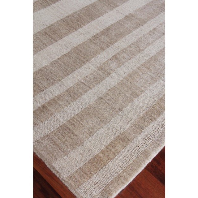"""Textile Iscar Hand loom Wool/Viscose Mineral Rug-6'x9"""" For Sale - Image 7 of 8"""