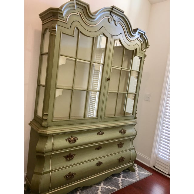 Wood Dorothy Draper Henredon Viennese Collection Display Cabinet For Sale - Image 7 of 11