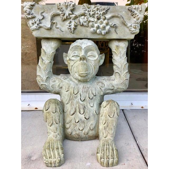 Large Bronze Finish Monkey Planter For Sale - Image 12 of 12