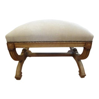 19th Century French Louis XVI Style Bench or Ottoman For Sale