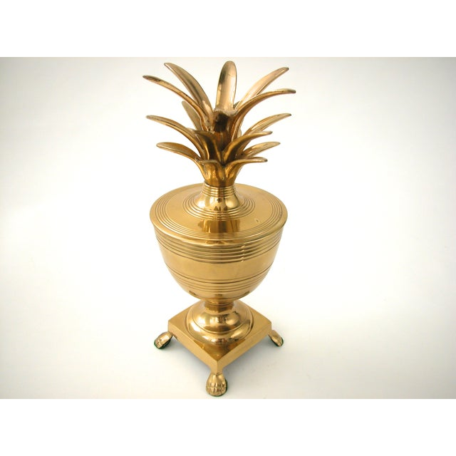 Brass Pineapple Container - Image 4 of 7