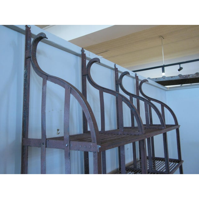 Wrought Iron Wall-Hanging Shelving Rack For Sale In New York - Image 6 of 7