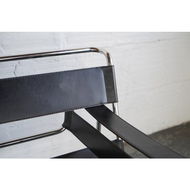 Marcel Breuer Mid 20th Century Wassily Chair by Marcel Breuer For Sale - Image 4 of 5