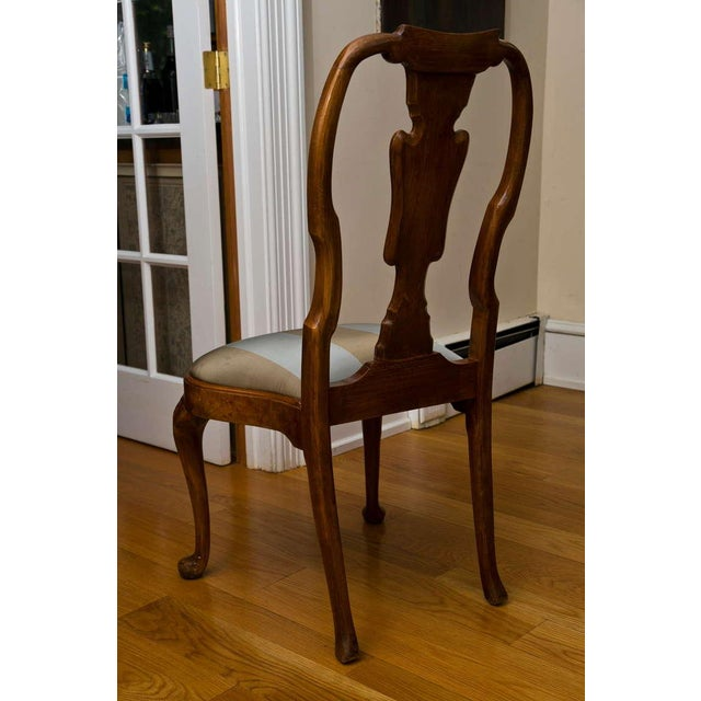Antique Queen Anne Style Side Chair - Image 7 of 9