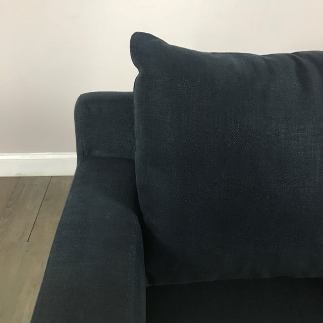 Modern Navy Chaise Lounge Sofa - Image 5 of 11