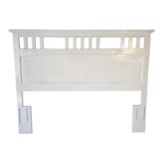 White Queen Size Painted Headboard