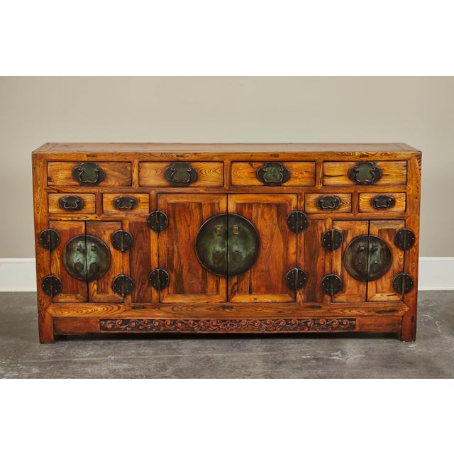 Rare 19th Century Chinese Elm Sideboard For Sale - Image 10 of 10
