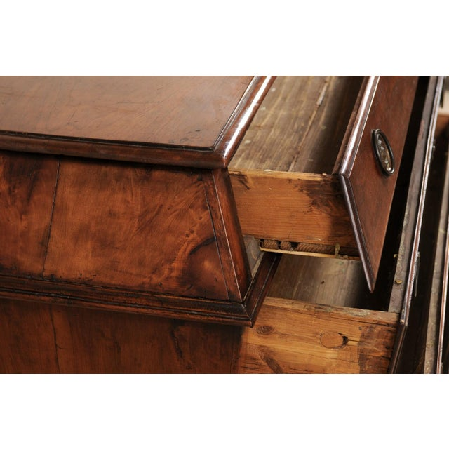 Wood Late 18th Century Italian Walnut Wood Commode For Sale - Image 7 of 12