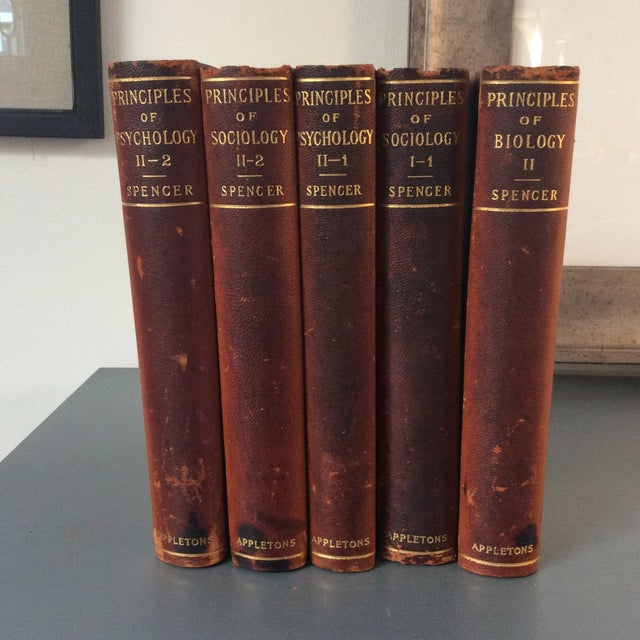 Antique Leather Books, 1897 - Set of 5 - Image 2 of 4