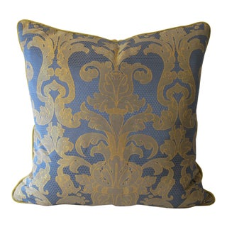 Silk Damask Pillow For Sale