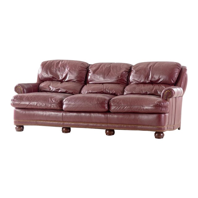 Excellent 20Th Century Moroccan Hancock And Moore Leather Sofa Customarchery Wood Chair Design Ideas Customarcherynet