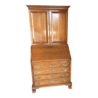 1940s Chippendale Style Cherry Secretary Desk For Sale