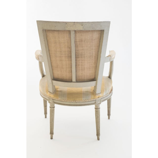 Empire Six French Armchairs For Sale - Image 3 of 6